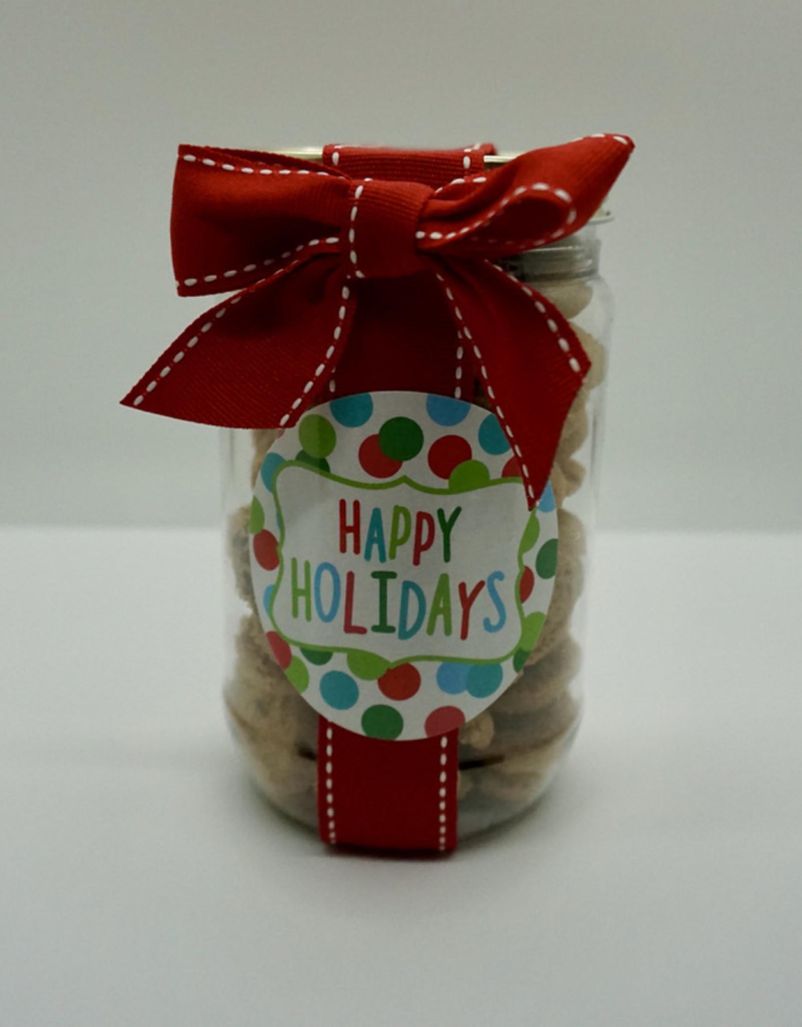 Oh Sugar! - 5oz Jar Choc Chip Cookies - Happy Holidays