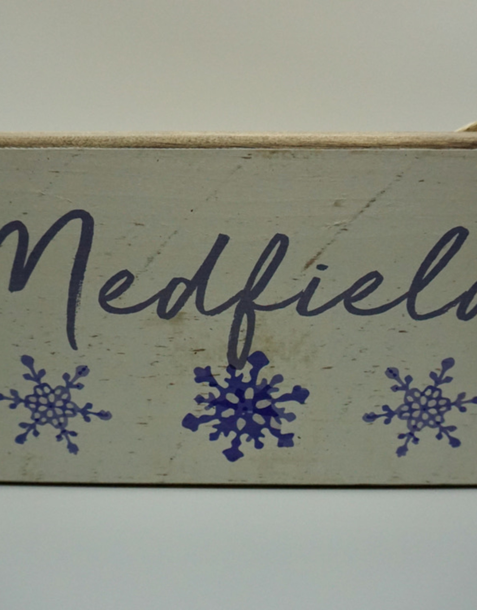 Rustic Marlin Rustic Marlin - Snowflake Mini Plank - Medfield