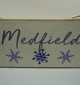 Rustic Marlin Rustic Marlin - Snowflake Mini Plank - Medfield