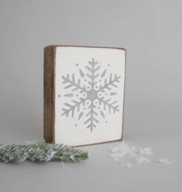 Rustic Marlin Rustic Marlin - Wood Block Snowflake - Grey