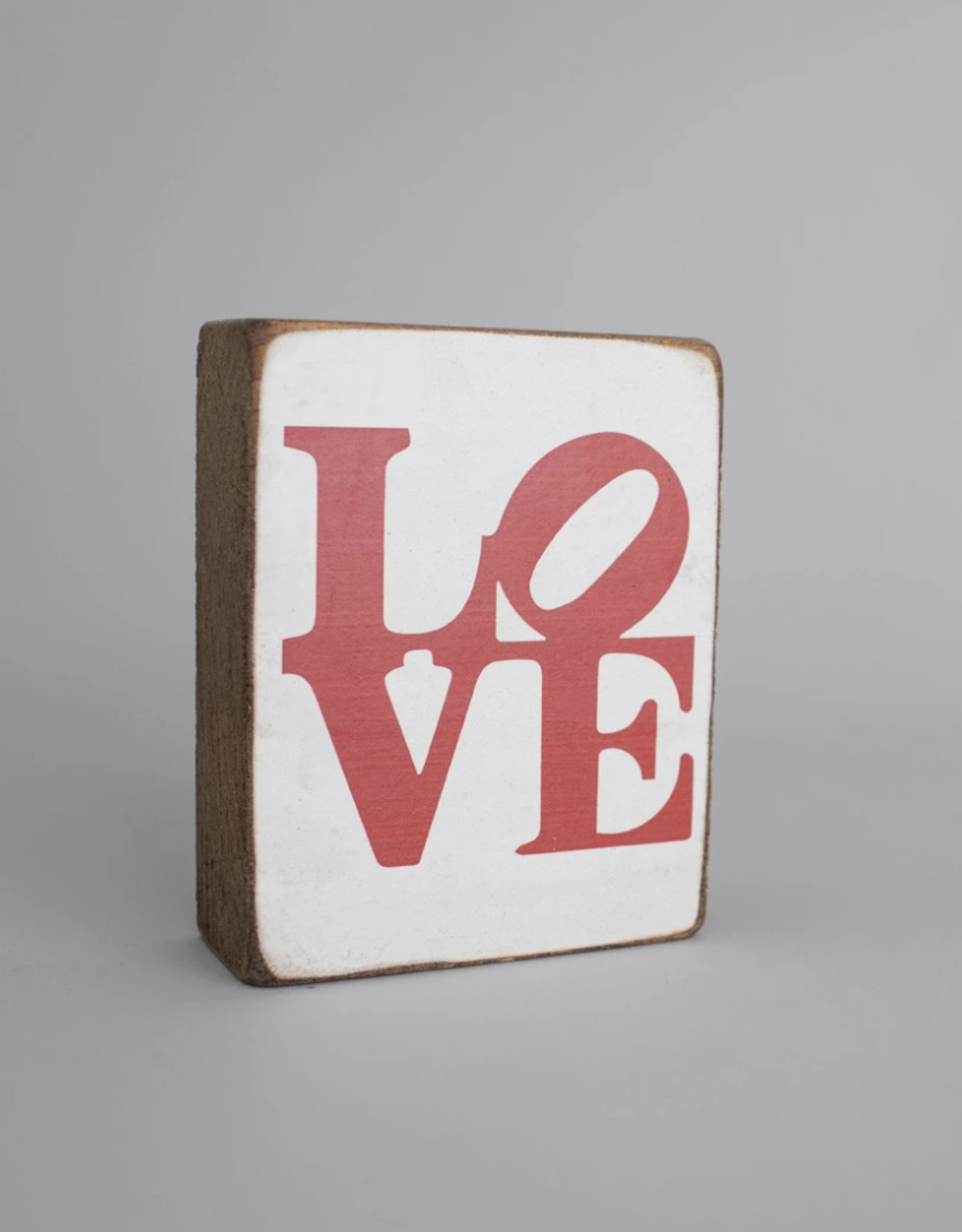 Rustic Marlin Rustic Marlin - Wood Block LOVE - Stacked Red