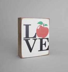 Rustic Marlin Rustic Marlin - Wood Block Love Apple