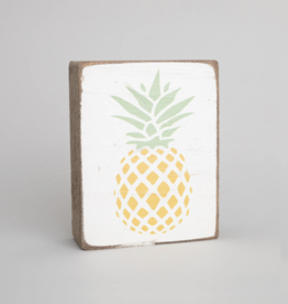 Rustic Marlin Rustic Marlin - Symbol Blocks Pineapple - Yellow/Green