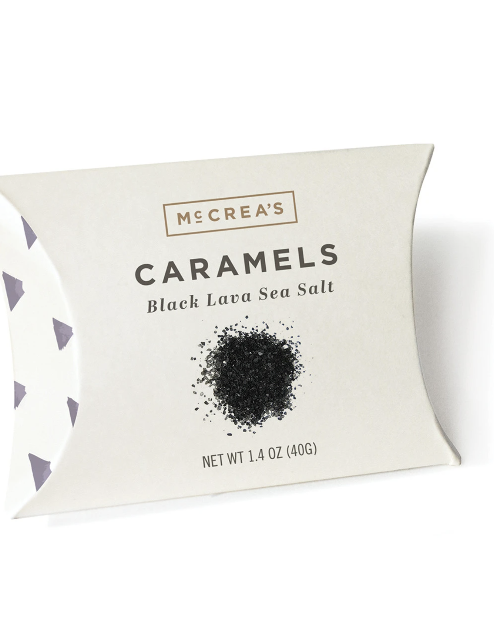 McCrea's Candies 1.4oz Pillows Black Lava Sea Salt