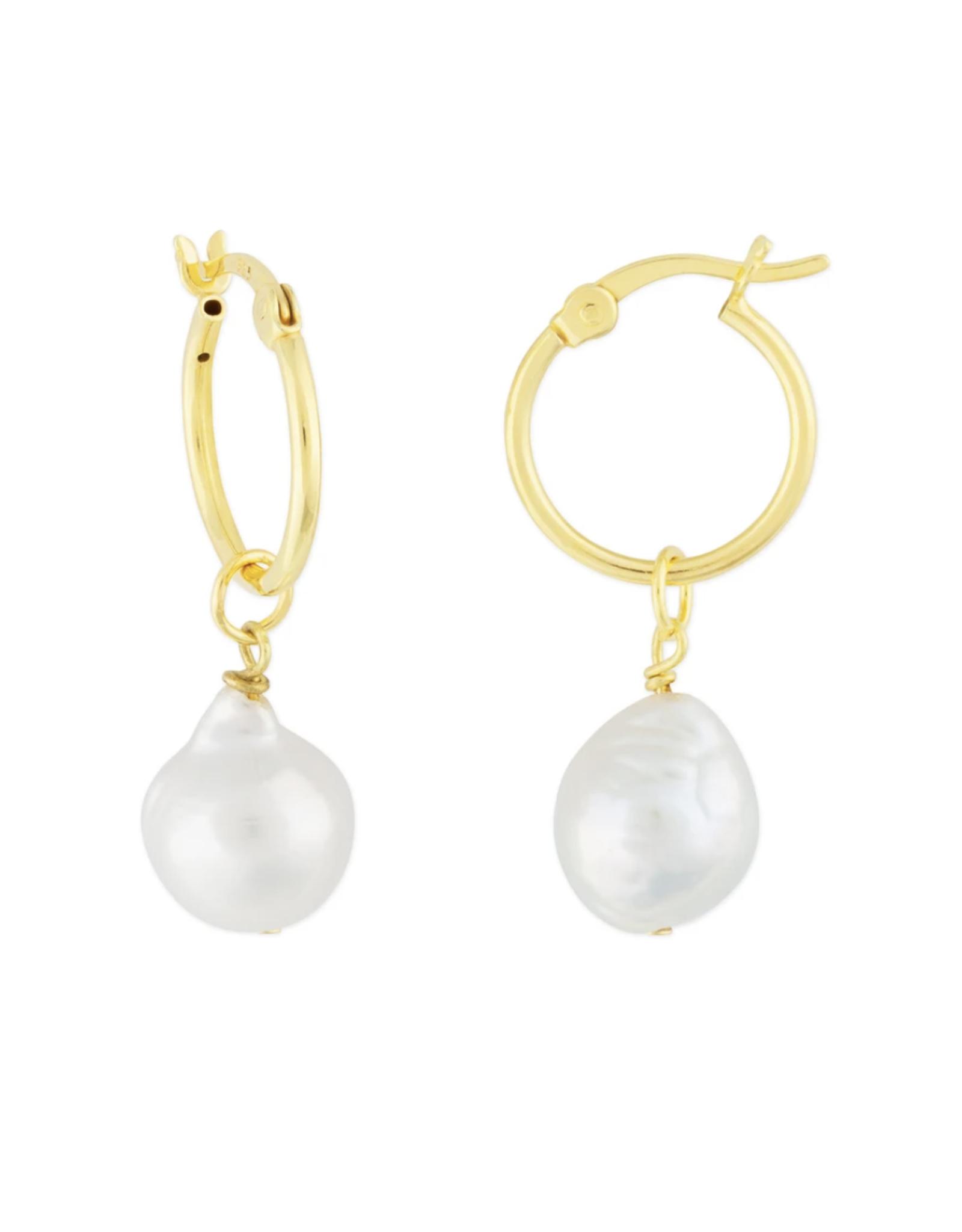 f.y.b. f.y.b. - Kaia Hoop Earring Gold Pearl