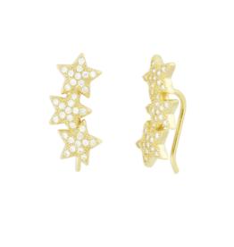 Eff Y Bee f.y.b. - Star Crawler Earring Gold