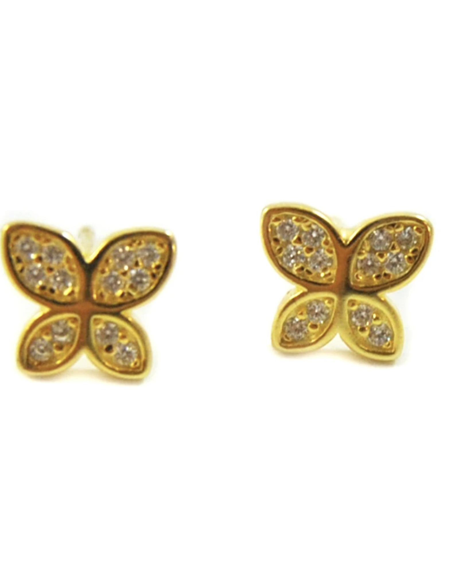 f.y.b. f.y.b. - Butterfly Stud Gold Earring