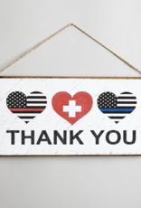 Rustic Marlin Rustic Marlin - Thank You Hearts Medical Mini Plank