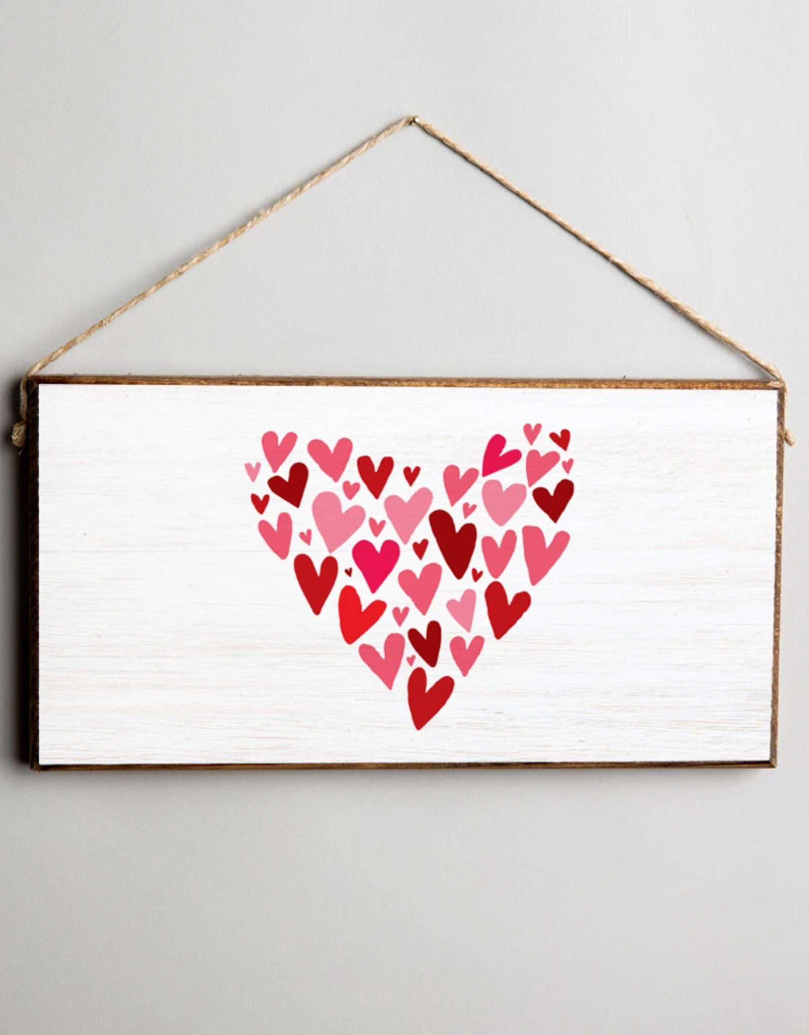 Rustic Marlin Rustic Marlin Mini Plank Mosaic Heart