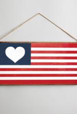 Rustic Marlin Rustic Marlin Mini Plank American Heart