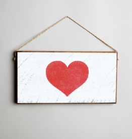 Rustic Marlin Rustic Marlin Mini Plank Heart