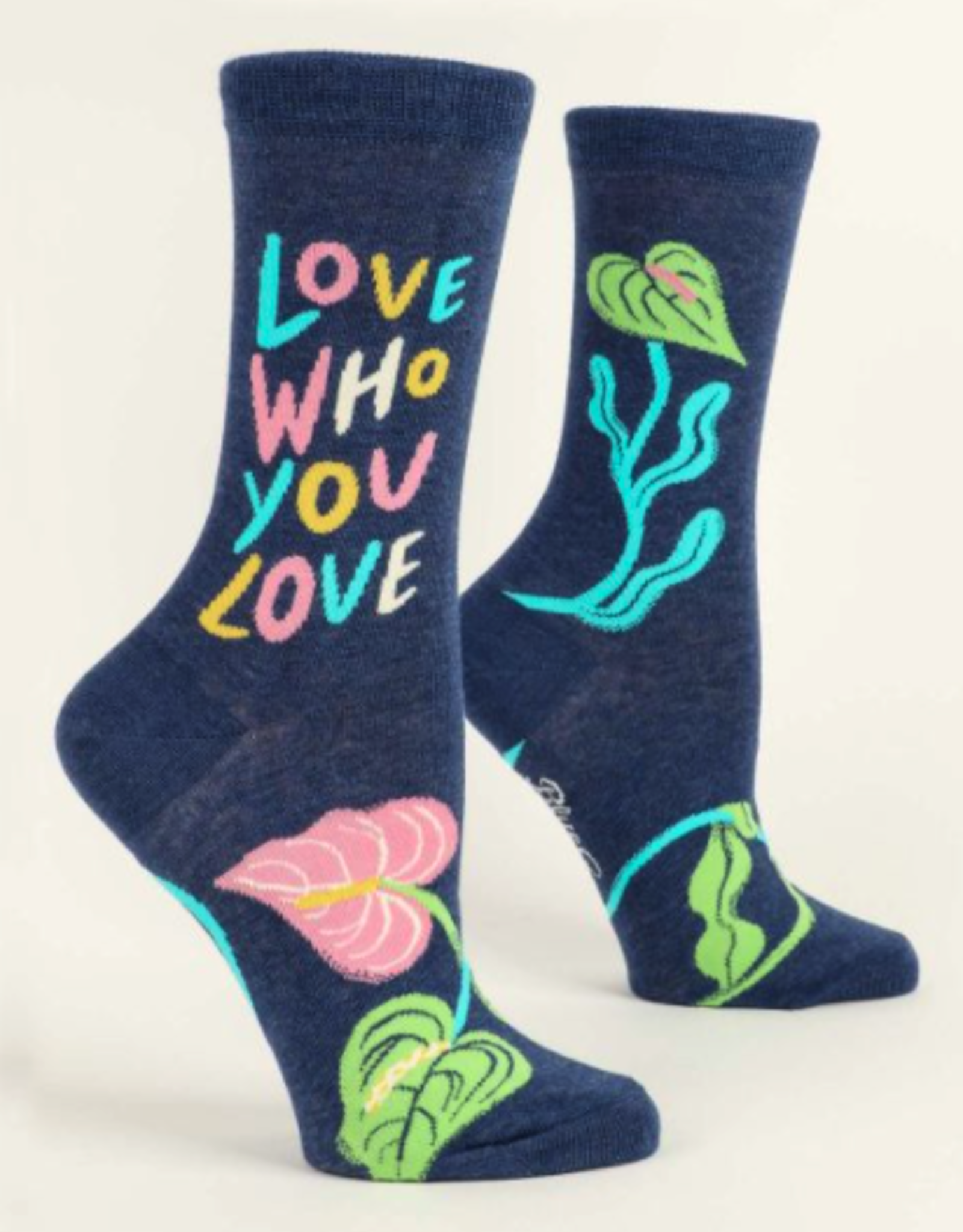 Blue Q Blue Q - Crew Socks Love Who You Love