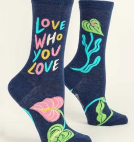 Blue Q Blue Q - Crew Socks Love Who You Love