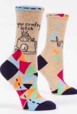 Blue Q Blue Q - Crew Socks Crafty Bitch