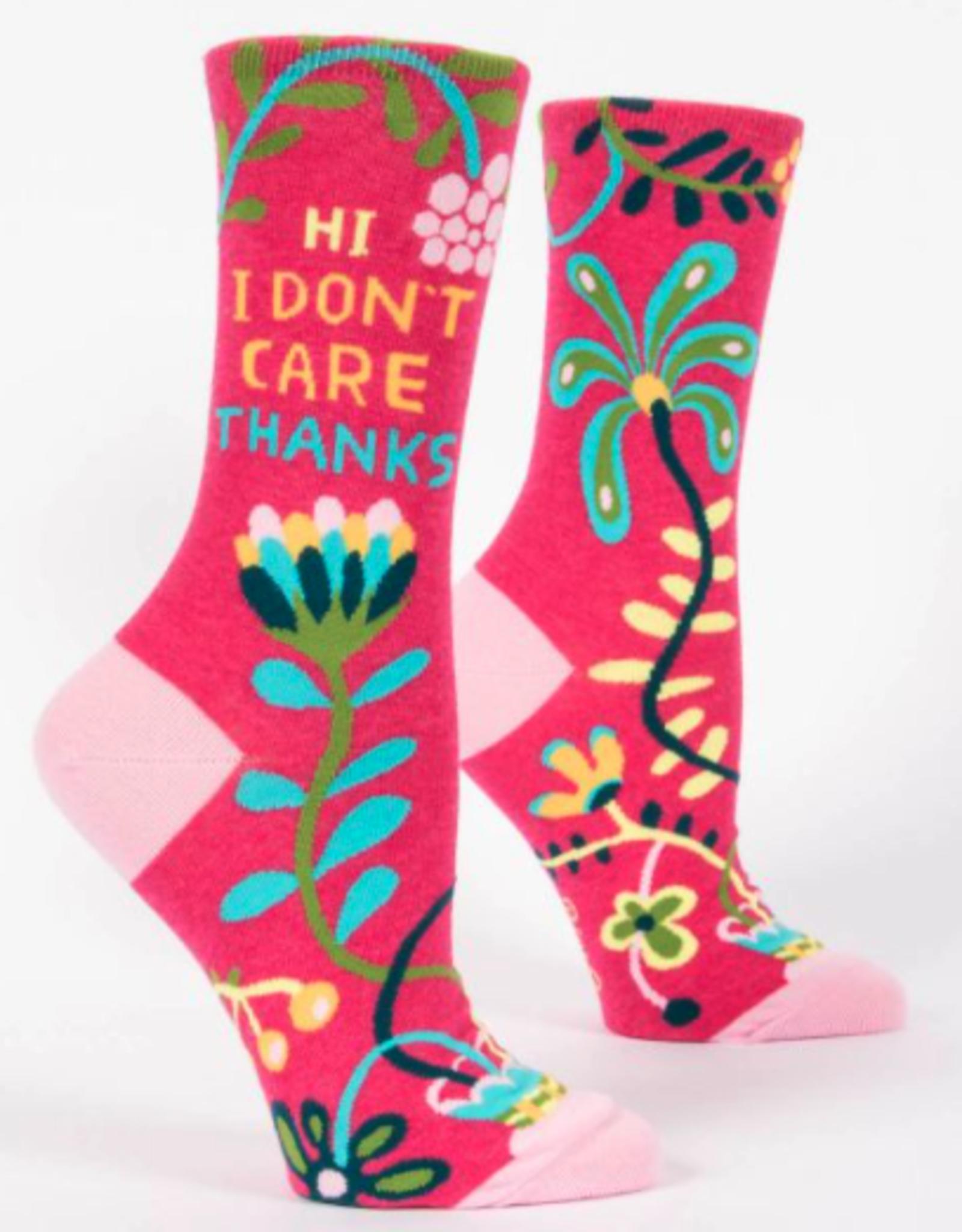 Blue Q Blue Q - Crew Socks - Hi I Don't Care
