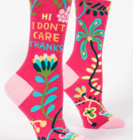 Blue Q Blue Q - Crew Socks - Hi I Don't Care