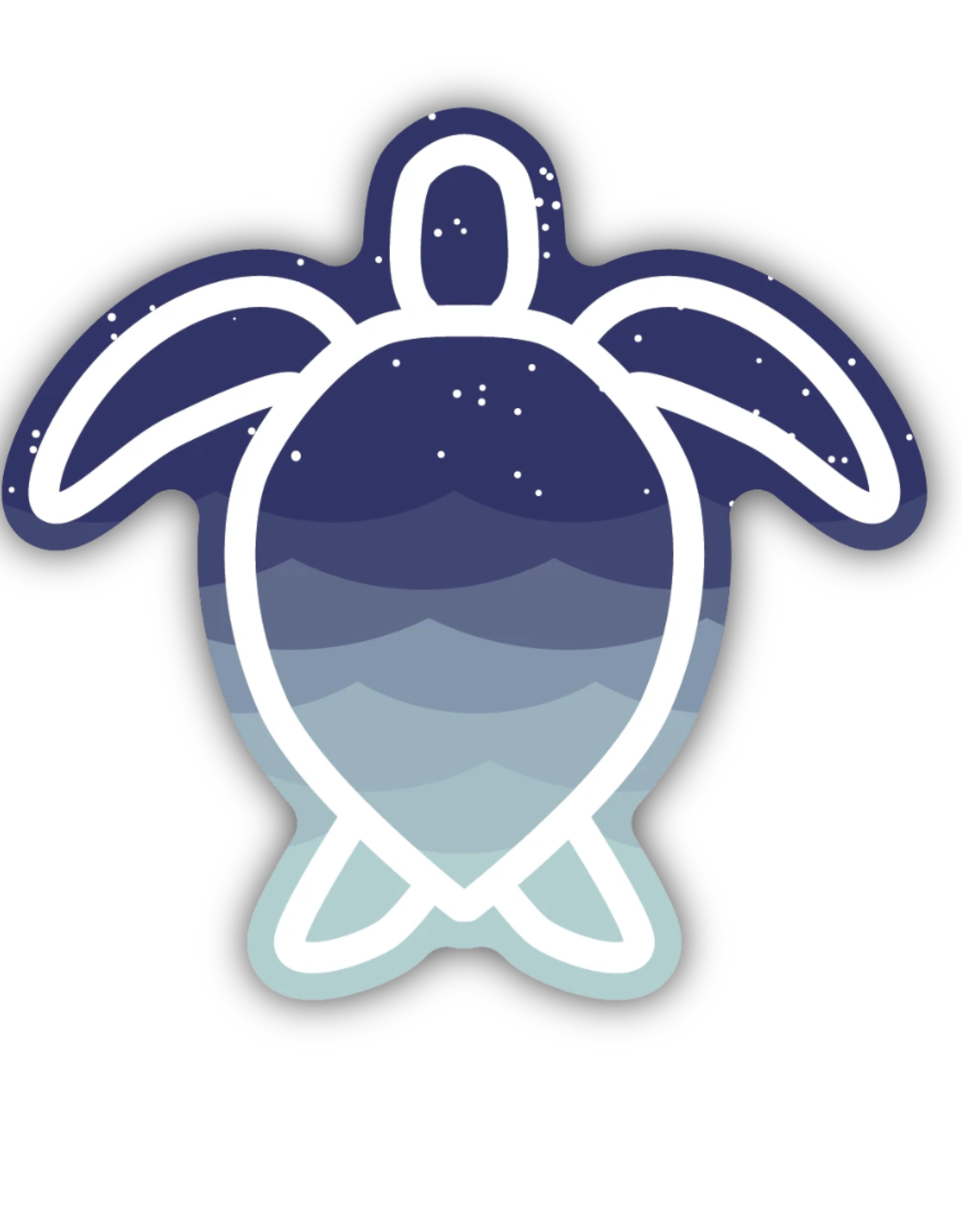 NW Stickers - Sea Turtle Waves