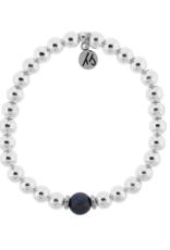 T. Jazelle T. Jazelle - Silver Cape Bracelet - Tanzanite Ball
