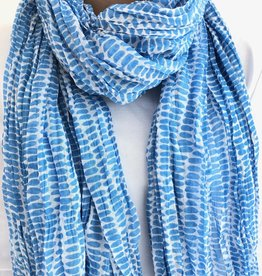 See Design - Cotton Scarf - Seeds, Periwinkle