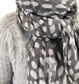 See Design See Design - Cotton Scarf - Cheetah, Grey