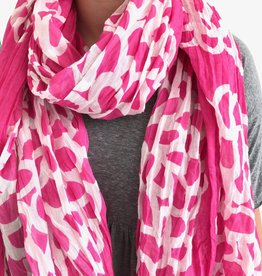 See Design See Design - Cotton Scarf - Clouds, Fuchdia
