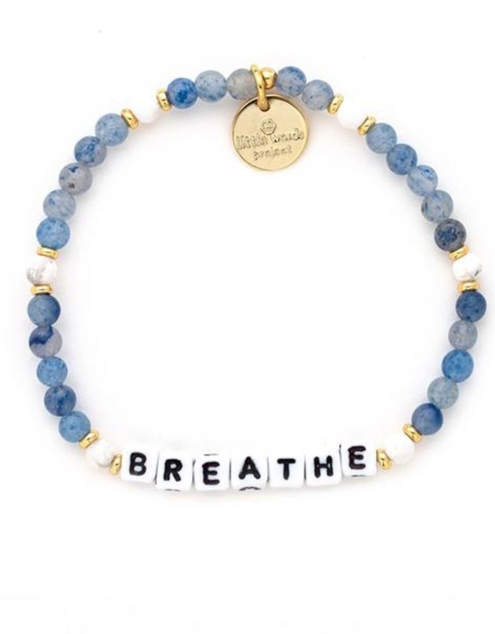 Little Word Project - Bracelet - Breathe - Bluestone