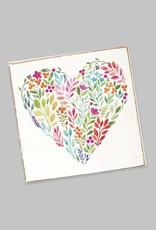 Rustic Marlin Rustic Marlin - Coaster Single - Floral Heart
