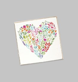 Rustic Marlin Rustic Marlin - Coaster Single - Floral Heart