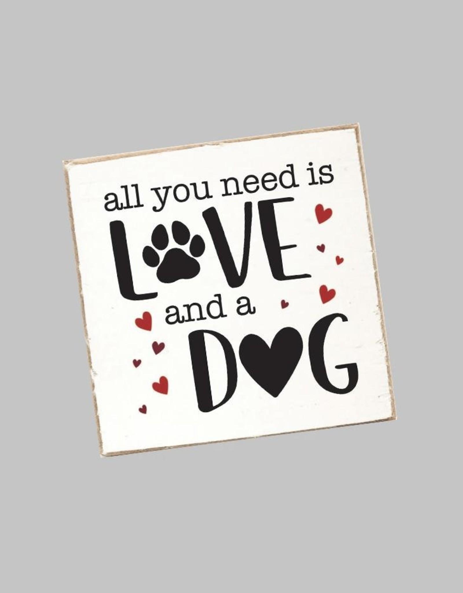 Rustic Marlin Rustic Marlin - Coaster Single - Love + A Dog
