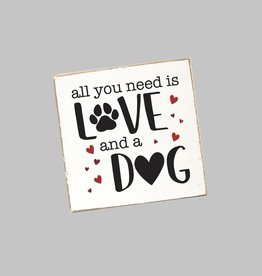 Rustic Marlin Rustic Marlin - Coaster Single - Love + A Dog