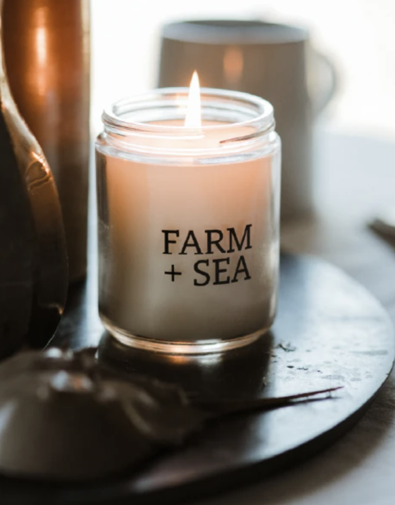 Farm + Sea Farm + Sea - 7.5 oz. Candle Jar - Grapefruit + Sea Salt