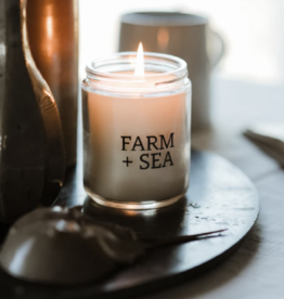 Farm + Sea Farm + Sea - 7.5 oz. Candle Jar - Grapefruit + Sea Salt