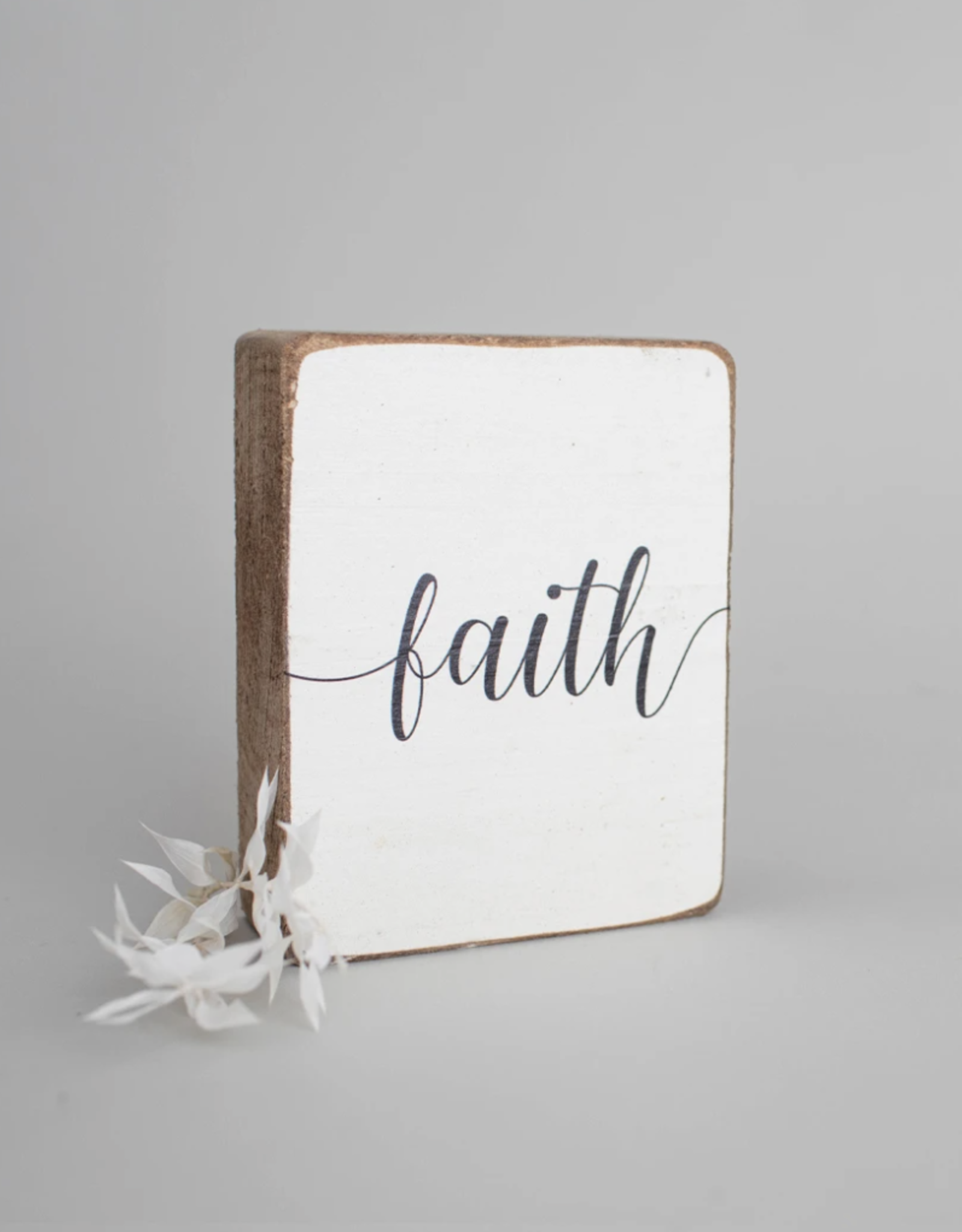 Rustic Marlin Rustic Marlin - Wood Block Faith