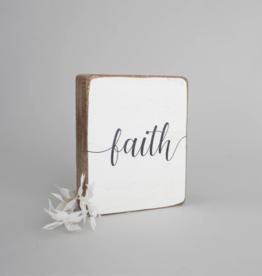 Rustic Marlin Rustic Marlin - Faith Symbol Block