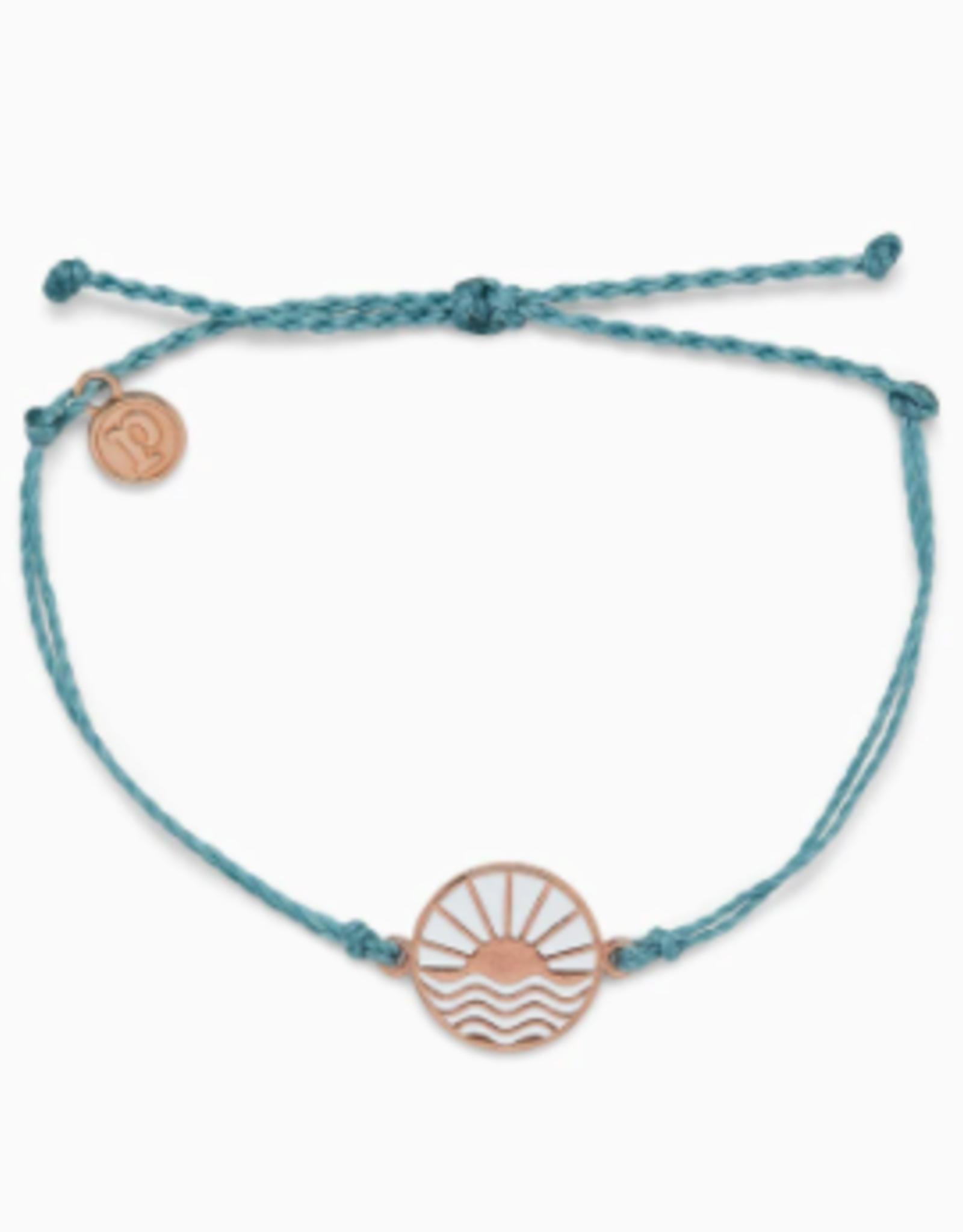 Pura Vida Pura Vida - Charm Bracelet Sunrise Sunset - Smoke Blue