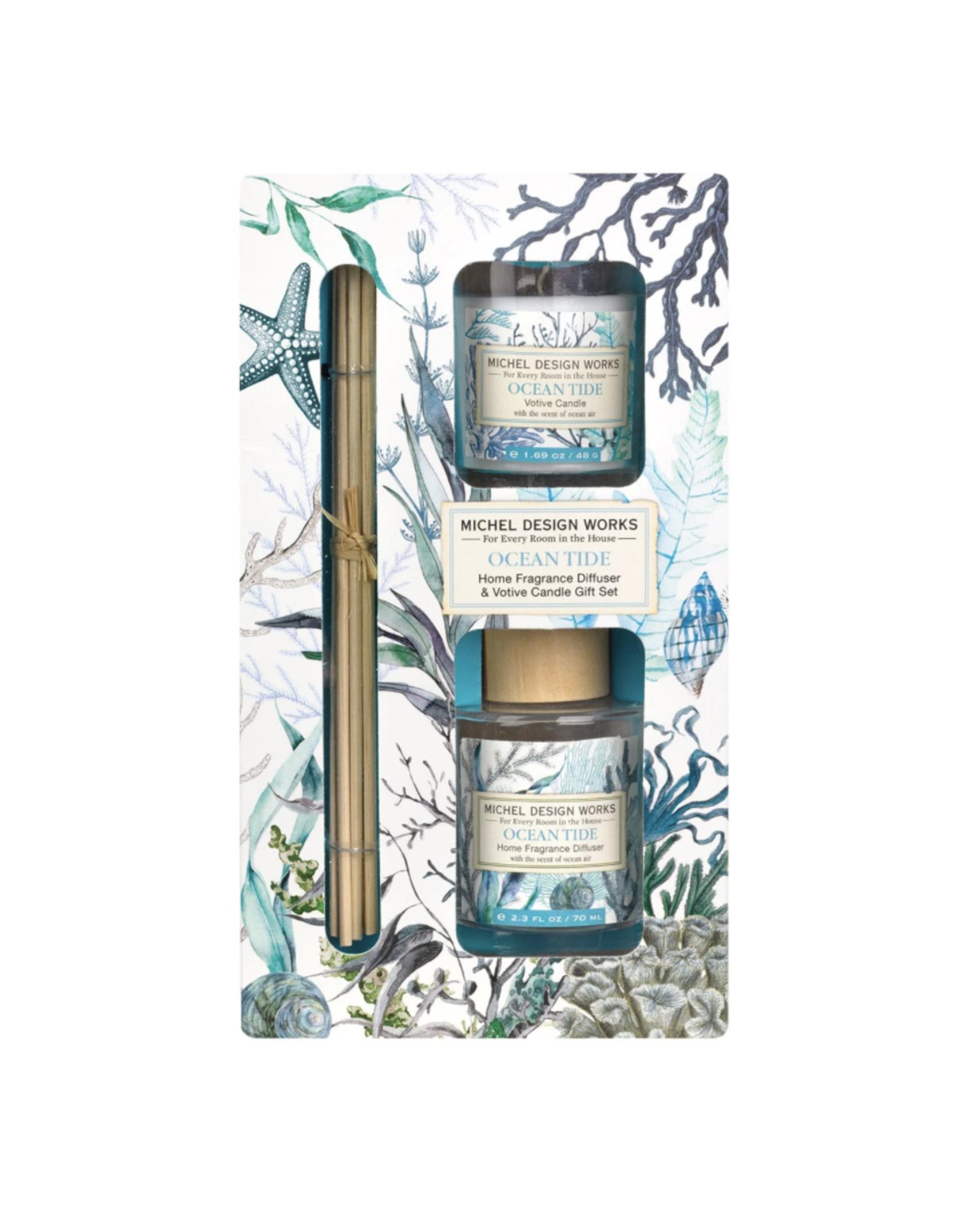 Michel Design Works Michel Design Works - Ocean Tide Home Fragrance Diffuser & Votive Candle Gift Set