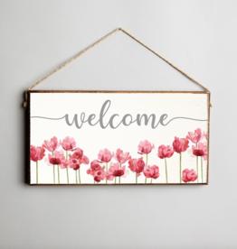 Rustic Marlin Rustic Marlin - Welcome Flowers Mini Plank