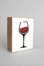 Rustic Marlin Rustic Marlin - Wood Block Wine Glass