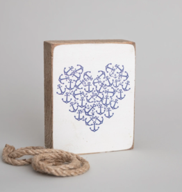 Rustic Marlin Rustic Marlin - Anchor Heart Symbol Block