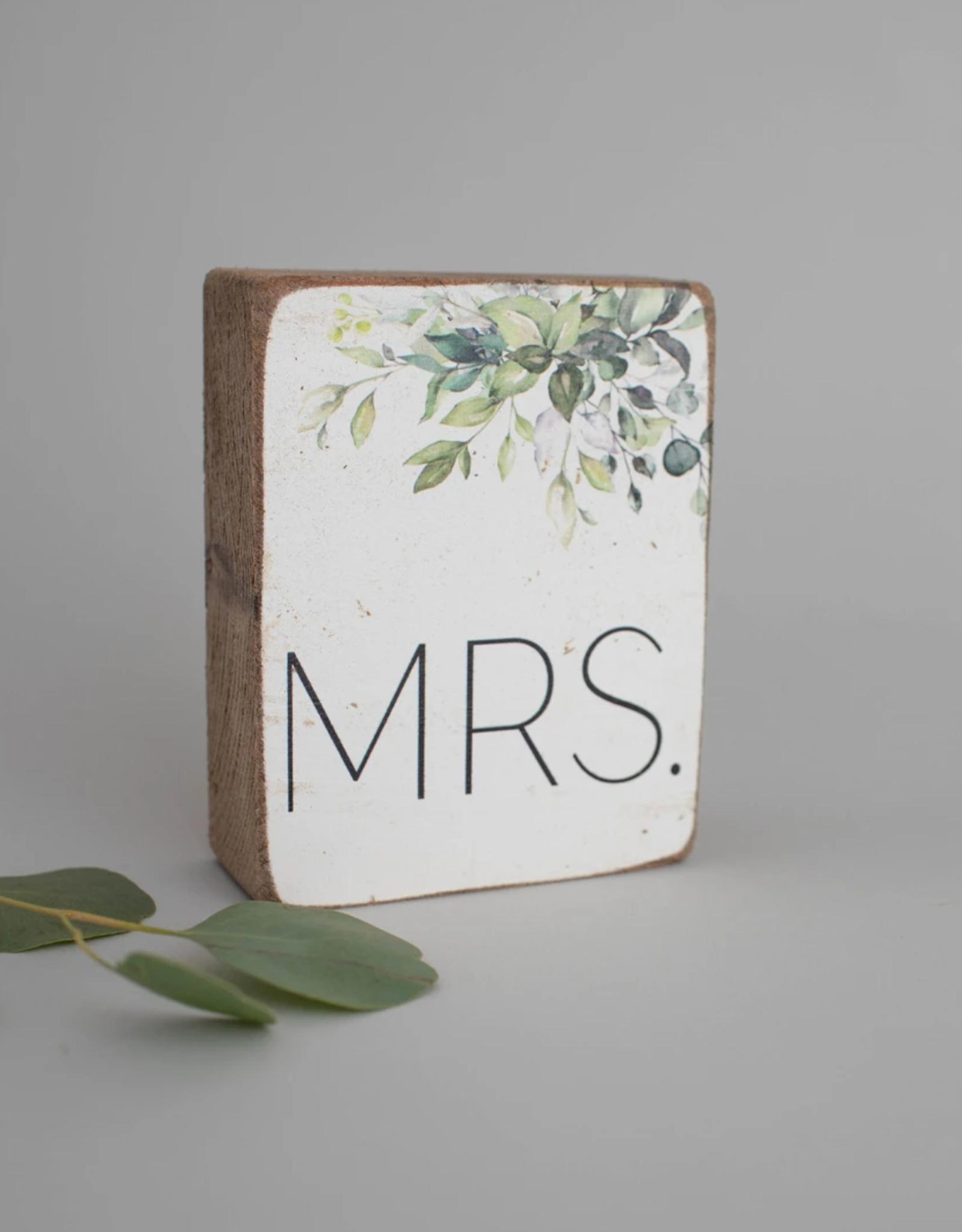 Rustic Marlin Rustic Marlin - Mrs Greenery Symbol Block