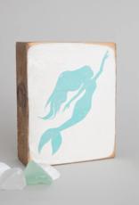Rustic Marlin Rustic Marlin - Wood Block Mermaid