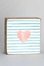 Rustic Marlin Rustic Marlin - Heart Stripes 6x6 Block