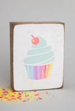 Rustic Marlin Rustic Marlin - Wood Block Cupcake
