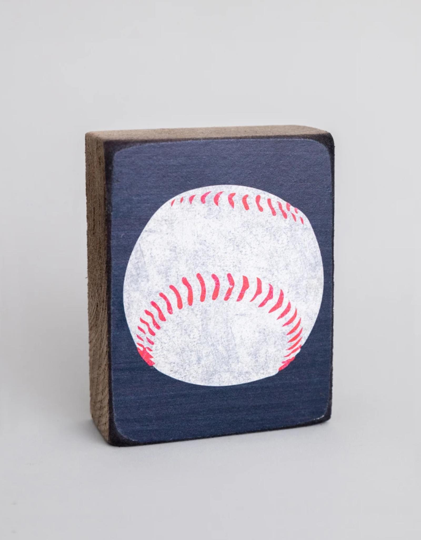 Rustic Marlin Rustic Marlin - Wood Block Baseball
