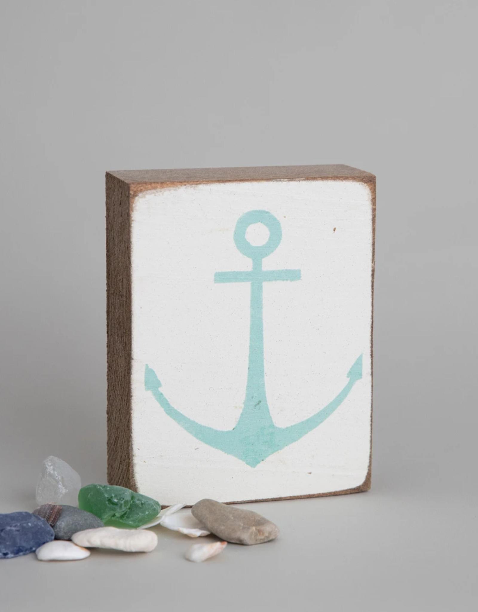 Rustic Marlin Rustic Marlin - Symbol Blocks Modern Anchor - Teal