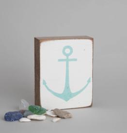 Rustic Marlin Rustic Marlin - Wood Block Modern Anchor - Teal