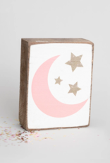 Rustic Marlin Rustic Marlin - Symbol Blocks Moon + Stars Pink/Gold