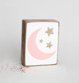 Rustic Marlin Rustic Marlin - Symbol Blocks Moon + Stars Pink/Gold