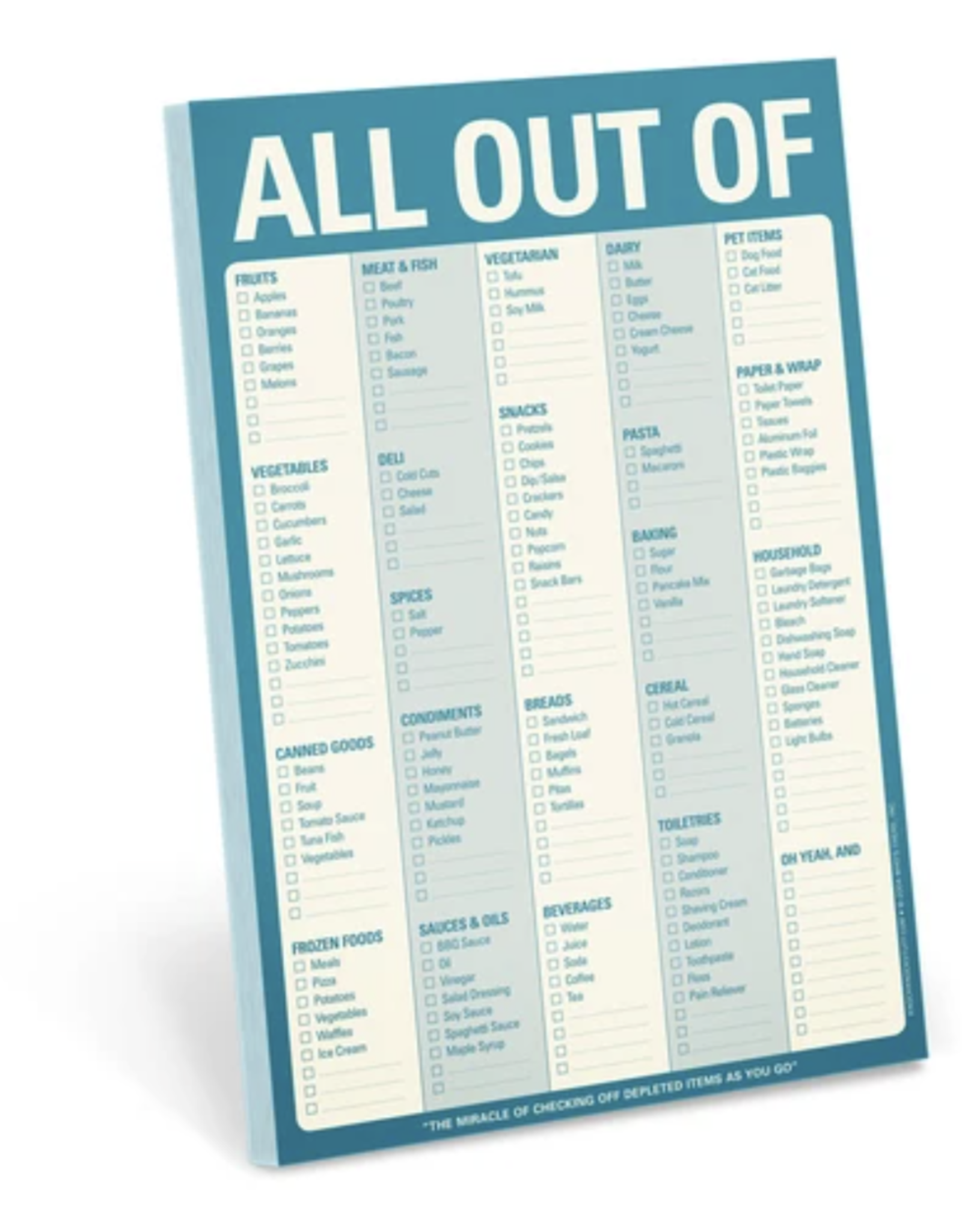 Knock Knock - All Out Of Note Pad (Blue)
