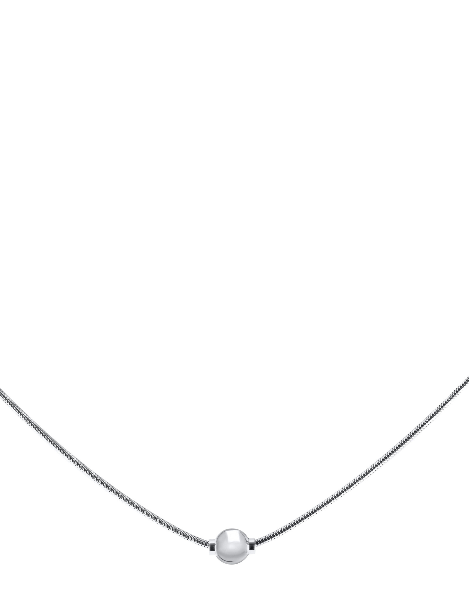 """Lestage - 18"""" Classic Cape Cod Snake Necklace - Single Ball"""
